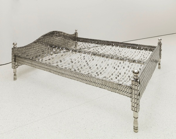 Tayeba Begum Lipi Love Bed, 2012 Stainless steel, 81.3 x 213.7 x 185.4 cm