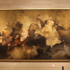 "Du Chunhui, ""The Clouds"", oil on canvas, 200 x 450 cm,2010-2012.杜春辉,《烟云》,布面油画,200 x 450 cm,2010-2012"