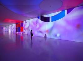 "Pipilotti Rist, ""Mercy Mercy"", audio video installation (music by Heinz Rohrer), 2013 (Courtesy the artist, Hauser & Wirth and Luhring Augustine New York).皮皮洛蒂•瑞斯特,《拈花》声音视频装置(音乐制作:Heinz Rohrer),2013(所有作品版权归属艺术家,Hauser & Wirth画廊及纽约Luhring Augustine画廊)。"