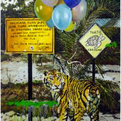"""Geng Yini, """"Panic"""", oil on canvas, 160 × 120 cm, 2013 耿旖旎,《恐慌》,布面油画,160 × 120 cm,2013"""