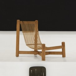 """Charlotte Perriand """"Low chair"""", c.1950, Bamboo, 72.5 x 77 cm x 61.5 cm (image Pace Gallery)"""