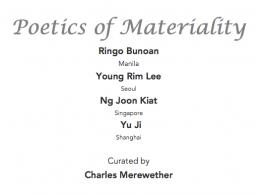 poetics of materials