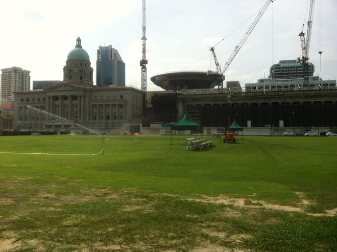 National Art Gallery, Singapore and cricket ground