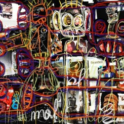 """Aboudia """"Art"""" 2013 at Jack Bell Gallery"""