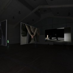 """Colin Chinnery、He An、Zhang Hui, """"Once"""", three channel high definition video loop, 6' 5"""", 2013 何岸、秦思源、张慧,《一次》,三屏高清同步循环录像,6' 5"""",2013"""