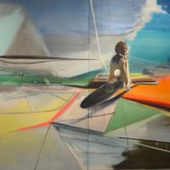 "Jia Aili, ""Untitled"", oil on canvas, 240 x 250 cm (x2), 2014贾蔼力,《未命名》,布面油画,240 x 250 cm (x2), 2014"