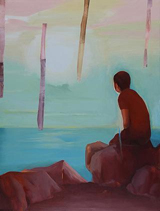 这个地方孤独而寂静 Lonely and Quiet Place 布面油画 Oil on Canvas, 120cmx90cm, 2013