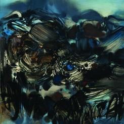 "Chu Teh-Chun, ""Untitled No. 195"" 《無題 第195號》 (image courtesy de Sarthe Gallery)"