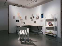 """Exhibition view of """"Dog Butterfly"""" at Yeo Workshop, Singapore"""