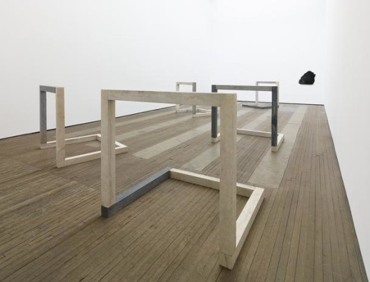 New sculptures by Anya Gallaccio, installation view at Lehmann Maupin, New York. Photo Elisabeth Berstein.