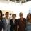 Rita Targui, Emi Eu, Ashley Bickerton and friend at S.T.P.I. booth