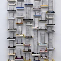 Job Koelewijn, Relief 25 march 2009 -  6 jan 2012, 2012, cassette tapes, 774 hours, 140 x 200 x 30 cm