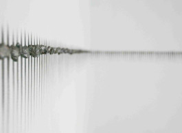 Teresita Fernández,《Horizon (Halo) 》,2011年,石墨、磁石,尺寸不一。图片请注明由艺术家及立木画廊(纽约及香港)提供。