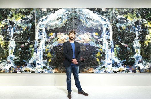 Artist Ben Quilty at the opening of