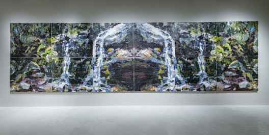 """Ben Quilty, """"Fairy Bower Falls Rorschach no.2"""", oil in linen, 220 x 780 cm, 2014. Photo by Mike Pickles / studioEAST."""