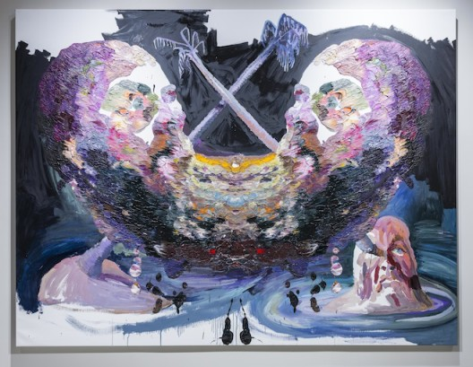 """Ben Quilty, """"Pacific Self-Portrait"""", oil on linen, 202 x 265 cm, 2014. Photo by Mike Pickles / studioEAST."""