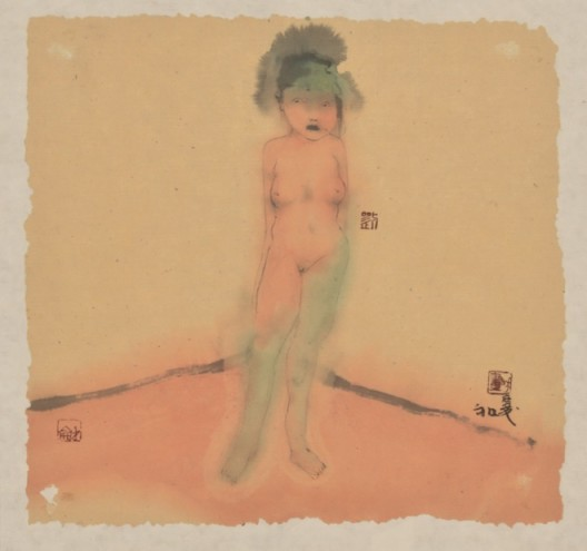 Lot 拍品编号 110 LIU QINGHE 刘庆和 (Chinese, B. 1958) UNTITLED《无题》 watercolour on paper 水彩 纸本 25.7 x 27.3 cm. (10 1/8 x 10 3/4 in.) Executed in 2002, 2002 年作 HK$   40,000- 60,000 US$    5,100- 7,700