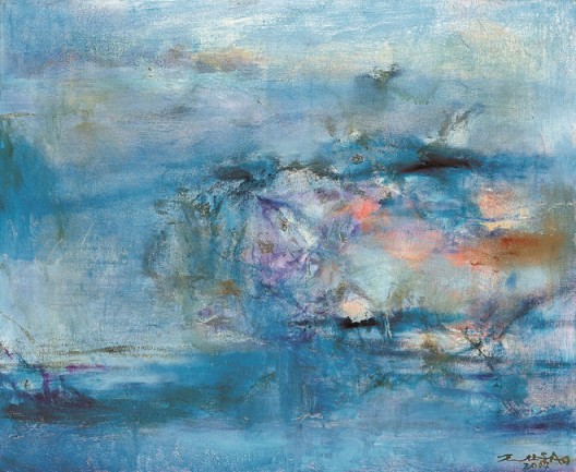 Lot 拍品编号 21 ZAO WOU-KI 赵无极 (ZHAO WUJI, French/Chinese, 1921-2013) Untitled 《无题》 oil on canvas 油彩 画布 60 x 73 cm. (23 5/8 x 28 3/4 in.) Painted in 2004年作2004 HK$ 2,800,000- 3,400,000 US$  359,000-  435,900