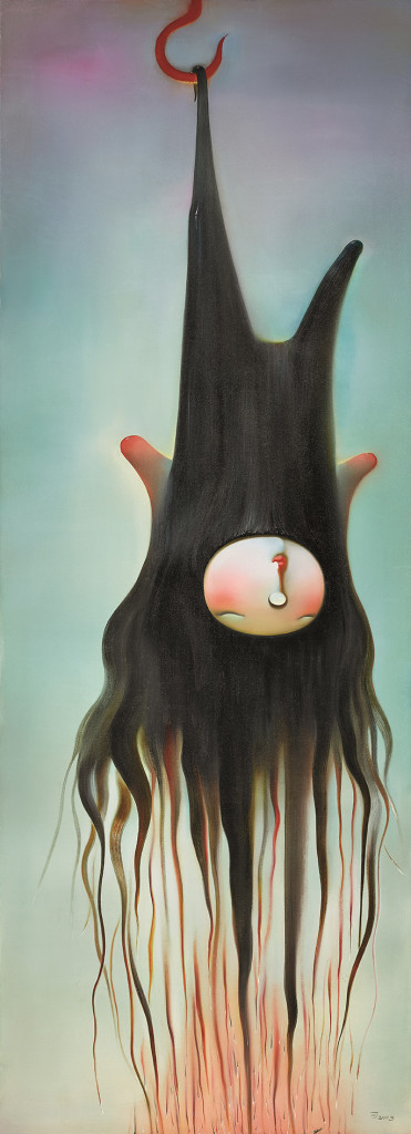 Lot 拍品编号 72 CHEN KE 陈可 (Chinese, B. 1978) The True of Love 《爱火》 oil on canvas油彩 画布 220 x 80 cm. (86 5/8 x 31 1/2 in.) Painted in 2005, 2005年作 HK$  450,000-  600,000 US$   57,700-   76,900