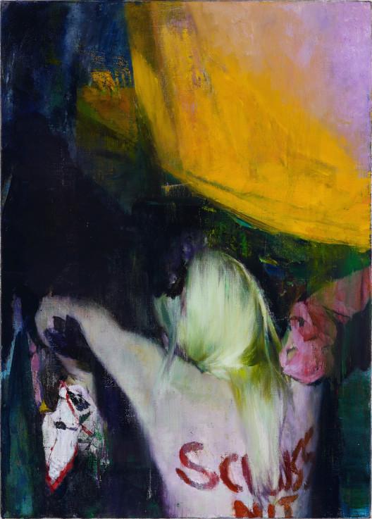 "Justin Mortimer, ""Schluss,"" oil on canvas, 70 x 50 cm, 2014."