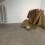 《黑黄格布》,布 面丙烯,3卷,每卷115 x 3000 cm,2014