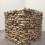 《柴火》,樟木,200 x 200 x 200 cm[8立方米],2012