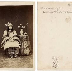 2. 三兴照相,上海,1860年代,名片格式蛋白照片 Chow Kwa, Shanghai, 1860s, Albumenprint carte de visite