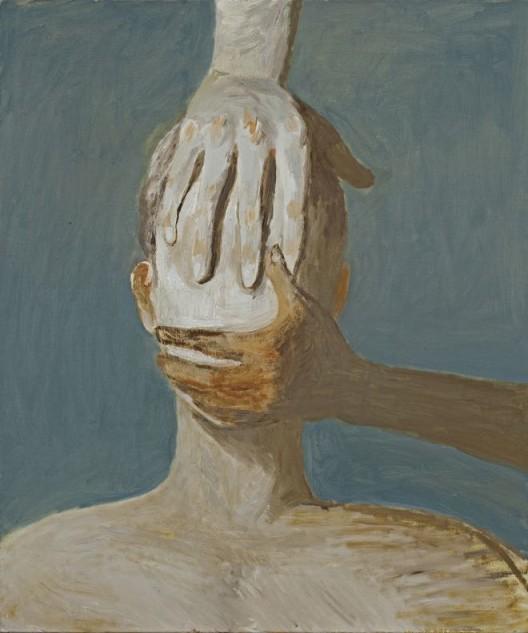"Tang Dixin, ""Confinement,"" oil on canvas, 60 x 50 cm, 2014唐狄鑫 ,《 禁闭》,布面油画,60 x 50 cm,2014"