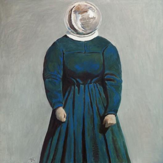 "Tang Dixin, ""Humanlike,"" oil on canvas, 80 x 80 cm, 2013唐狄鑫,《类人》,布面油画,80 x 80 cm,2013"