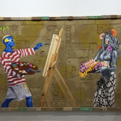 "Ashley Bickerton ""Sanur Beach after Le Mayeur & Ni Pollock"", 2014, at Gajah Gallery"