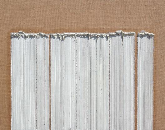 "Ha Chong-Hyun, ""Conjunction 08-05,"" oil on hemp cloth, 130 x 162 cm, 2008."
