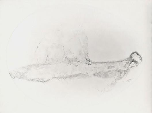《痕迹 E.009》,布面油画,120*100cm,2014