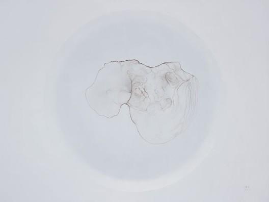 朱昱,《茶渍NO.17》,布面油画 ,150*200cm,2012