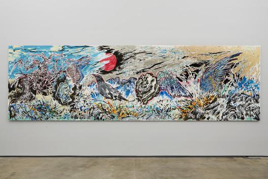 "Sun Xun, ""The Time Vivarium - 23,"" acrylic and ink on paper mounted to aluminum 152.4 x 518.5 cm, 2014. © Sun Xun, Courtesy: Sean Kelly, NY."