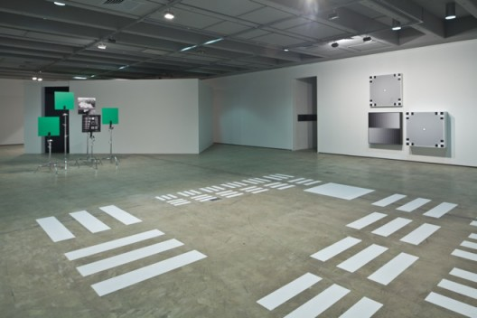 """Hito Steyerl, installation view. """"HOW NOT TO BE SEEN A Fucking Didactic Educational.Mov File (2013)"""". installation. HD video 00:14:00. Copyright Hito Steyerl, courtesy Wilfried Lentz Rotterdam. Photo Credit: Richard Stringer."""