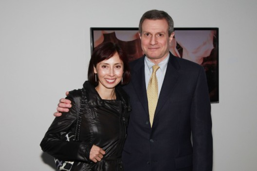 "Dr. Michael I. Jacobs and Melissa Chiu at the opening of ""Now You See"