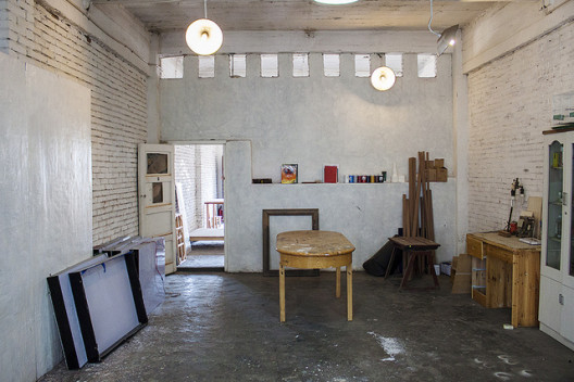 A view of studio space at TCG Nordica, Kunming