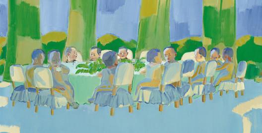 Tang Zhigang    WorldPlay: Green Shadows    2014    Oil on Canvas    130 x 162 cm