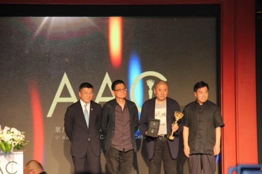 L-R: CEO of Artron Culture Wan Jie, Huang Zhuan, Zhang Peili, Wang Ya Min