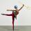 "Yinka Shonibare, ""Ballet God (Poseidon)"", Fibreglass mannequin, Dutch wax printed cotton textile, trident, dagger, globe, pointe shoes and steel baseplate, 209 x 221 x 90 cm, 2015."