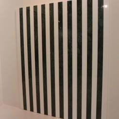 "Daniel Buren ""Vert Rajasthan (Inde) / Blanc Thasos (Grèce)"" 2015 (Kamel Mennour, Paris)"