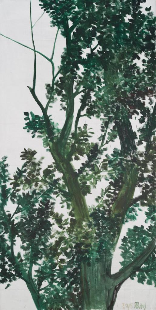 树系列4  2.5X7.4m 窗贴 2015
