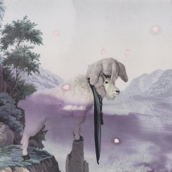 """Julian SCHNABEL, """"Untitled"""", inkjet print, ink on polyester, 88 x 96 inches, 2013, © Julian Schnabel, Courtesy of the artist and Almine Rech Gallery"""