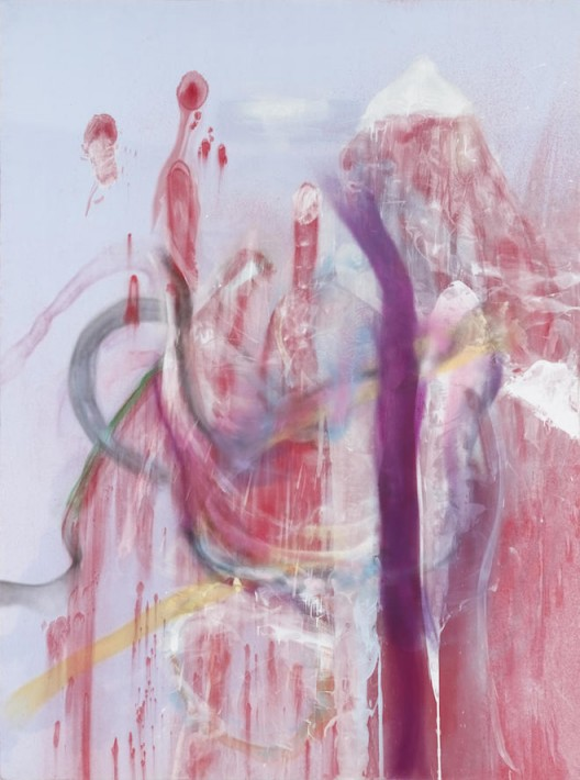 """Julian SCHNABEL, """"Tour of Hell"""", inkjet print, spray paint on polyester, 120 x 89 inches, 2015, © Julian Schnabel, Courtesy of the artist and Almine Rech Gallery"""