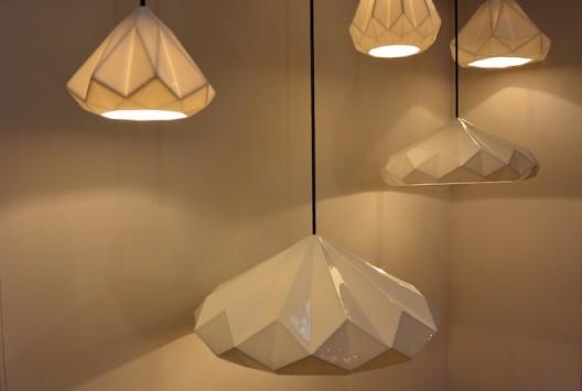 Lighting company, Original BTC, introduced their new bone china pendants,