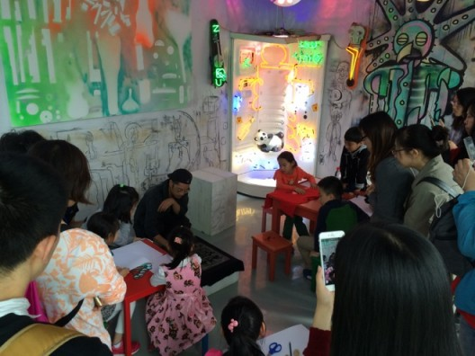 Hexhedron-Art Project by Toru Harada,childrens'workshop