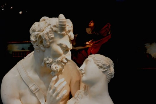 """Francesco Pozzi """"Jupiter in the guise of a satyr, seduces the river nymphe Antiope"""", (1828) at Cesar Lampronti"""
