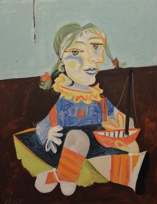 "Picasso's ""Maya au Bateau"" from 1938 at Richard L. Feigen & Co."