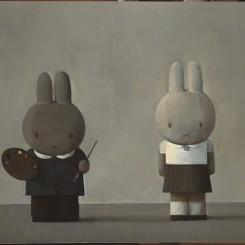 2010-6.画家和模特儿,Painter and Model,80x100cm,acrylic on canvas