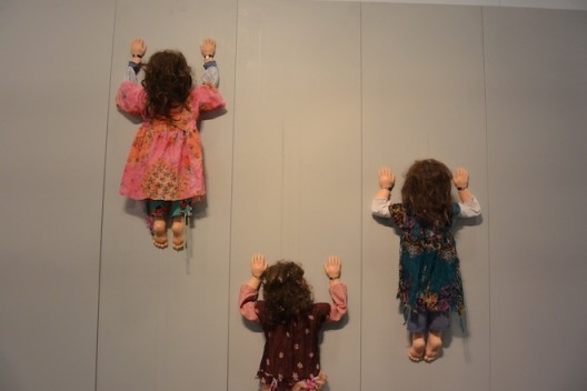 Server Demirtas and mechanized climbing babies at Bozlu Art Project, Istanbul